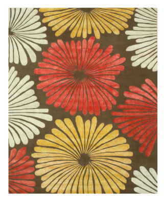 Eastern Rugs Hand-tufted Transitional Floral Sunflower Rug