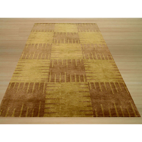 Eastern Rugs Hand-knotted Transitional Abstract Nepalese Squares Rug