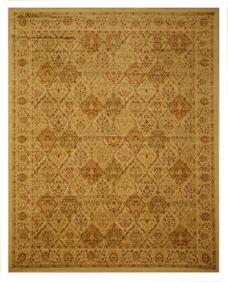 Eastern Rugs Machine-Made Traditional Oriental Panel Kashmir Rug