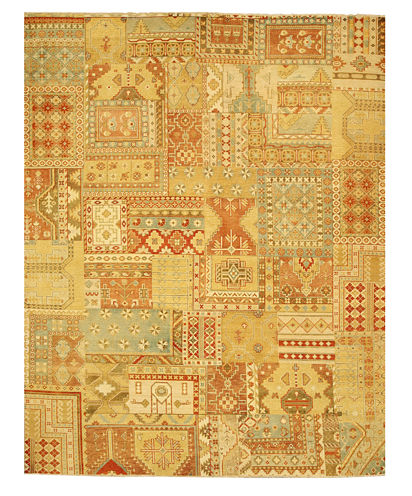 Eastern Rugs Hand-knotted Southwestern Tribal Oriental Patch Rug