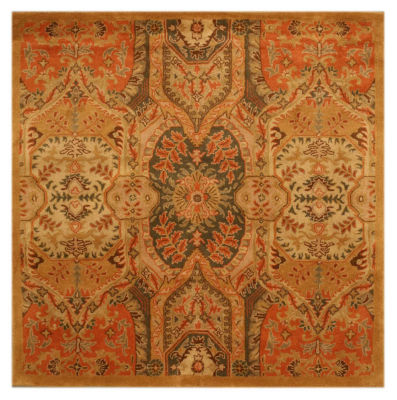 Eastern Rugs Hand-tufted Transitional Floral Piazza Square Rug