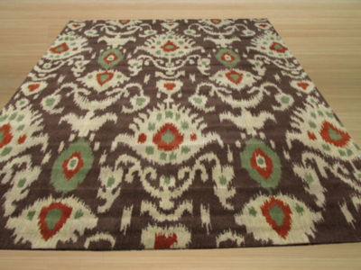 Eastern Rugs Hand-tufted Contemporary Ikat Rug