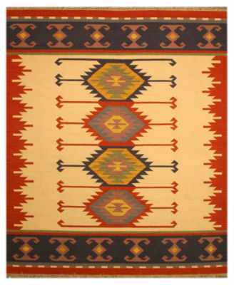 Eastern Rugs Handmade Transitional Geometric Keysari Kilim Rug
