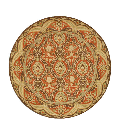 Eastern Rugs Hand-tufted Traditional Oriental Khyber Round Rug