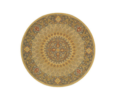 Eastern Rugs Hand-tufted Traditional Oriental Gombad Round Rug