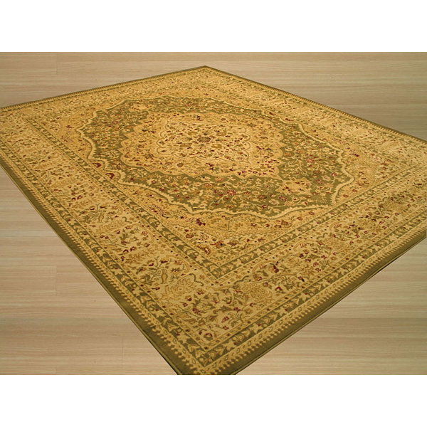 Eastern Rugs Machine-Made Traditional Oriental Medallion Kars Tabriz Rug