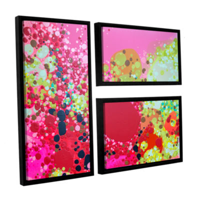 Brushstone Long Kiss 3-pc. Flag Floater Framed Canvas Wall Art