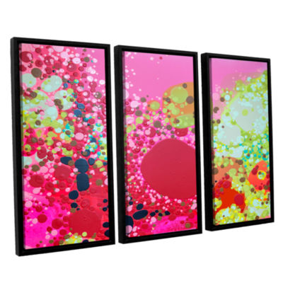 Brushstone Long Kiss 3-pc. Floater Framed Canvas Wall Art