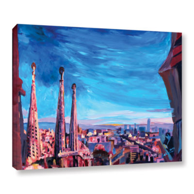 Brushstone Barcelona with Sagrada Familia GalleryWrapped Canvas Wall Art