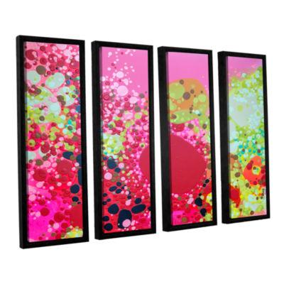 Brushstone Long Kiss 4-pc. Floater Framed Canvas Wall Art