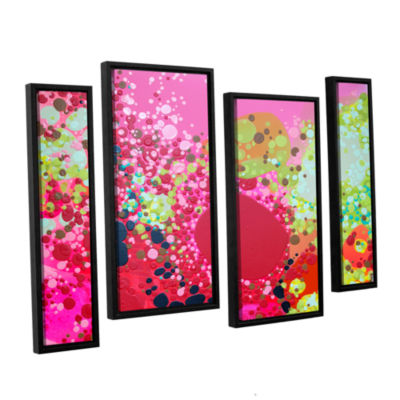 Brushstone Long Kiss 4-pc. Floater Framed Staggered Canvas Wall Art