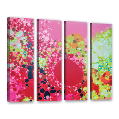 Brushstone Long Kiss 4-pc. Gallery Wrapped CanvasWall Art