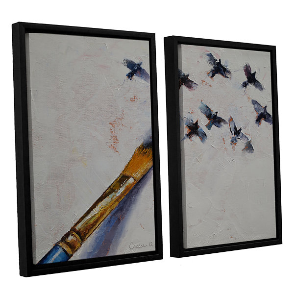 Brushstone Birds 2-pc. Floater Framed Canvas WallArt