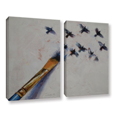 Brushstone Birds 2-pc. Gallery Wrapped Canvas WallArt