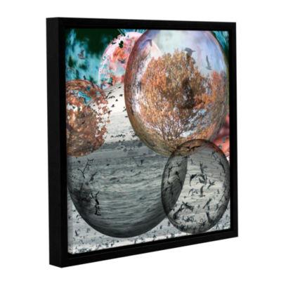 Brushstone Birds 3 Gallery Wrapped Floater-FramedCanvas Wall Art