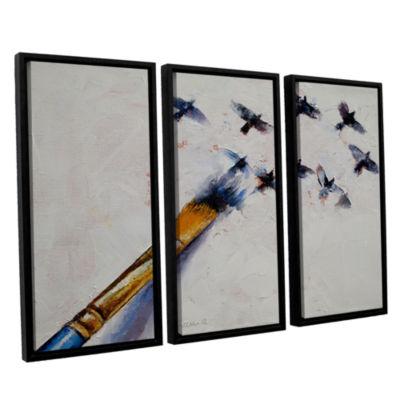 Brushstone Birds 3-pc. Floater Framed Canvas WallArt