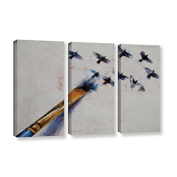 Brushstone Birds 3-pc. Gallery Wrapped Canvas WallArt