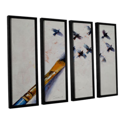 Brushstone Birds 4-pc. Floater Framed Canvas WallArt