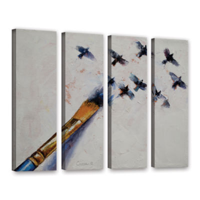 Brushstone Birds 4-pc. Gallery Wrapped Canvas WallArt