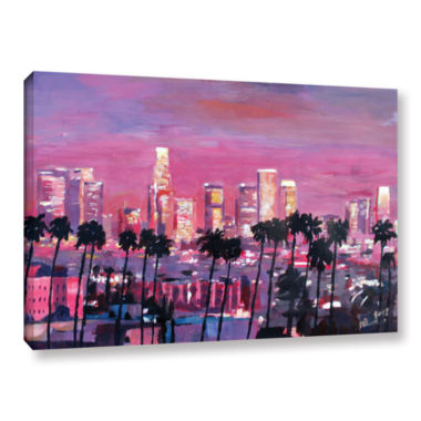 Brushstone Los Angeles Golden Skyline Gallery Wrapped Canvas Wall Art