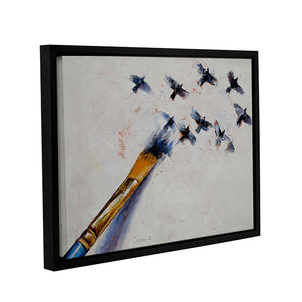 Brushstone Birds Gallery Wrapped Floater-Framed Canvas Wall Art