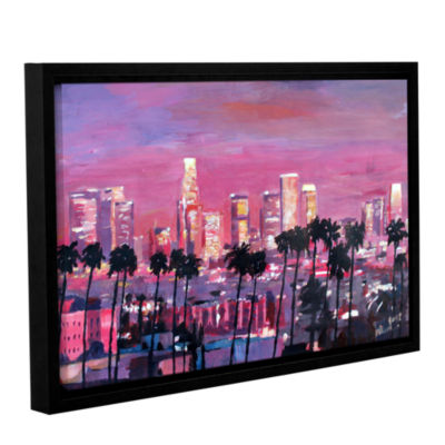 Brushstone Los Angeles Golden Skyline Gallery Wrapped Floater-Framed Canvas Wall Art