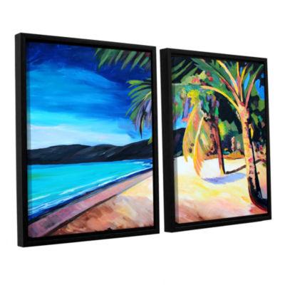 Brushstone Magen's Bay St. Thomas Virgin Islands 2-pc. Floater Framed Canvas Wall Art