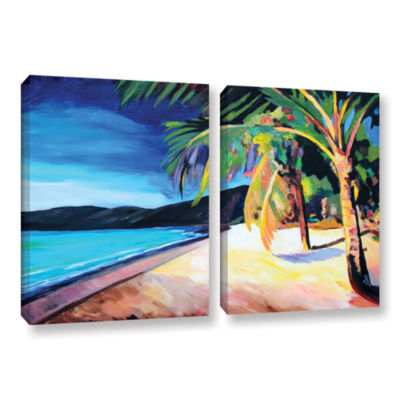 Brushstone Magen's Bay St. Thomas Virgin Islands 2-pc. Gallery Wrapped Canvas Wall Art