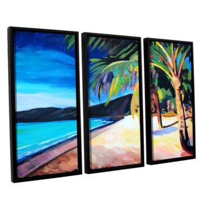 Brushstone Magen's Bay St. Thomas Virgin Islands 3-pc. Floater Framed Canvas Wall Art