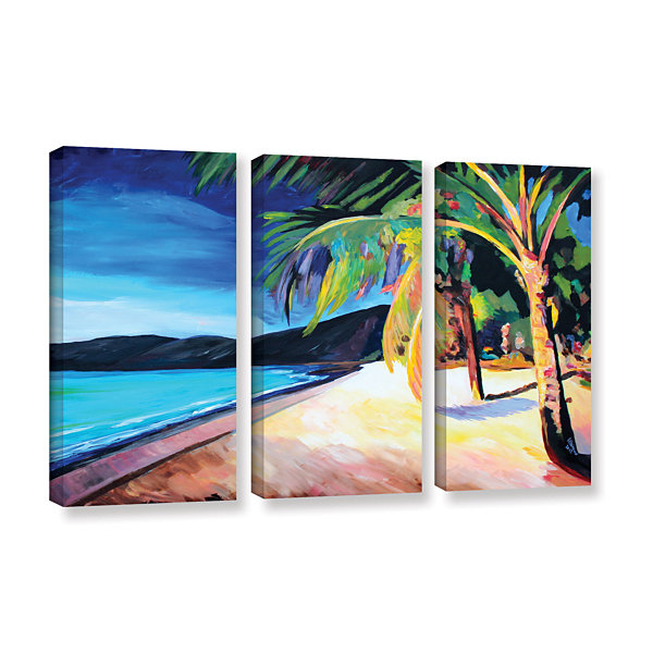 Brushstone Magen's Bay St. Thomas Virgin Islands 3-pc. Gallery Wrapped Canvas Wall Art