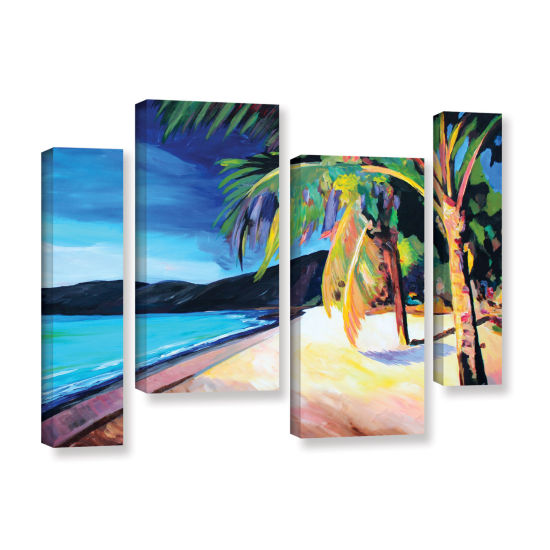 Brushstone Magen's Bay St. Thomas Virgin Islands 4-pc. Gallery Wrapped Staggered Canvas Wall Art