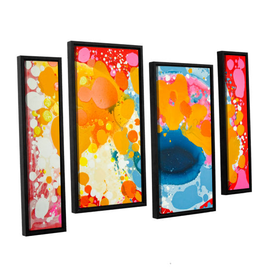 Brushstone Brave 4-pc. Floater Framed Staggered Canvas Wall Art