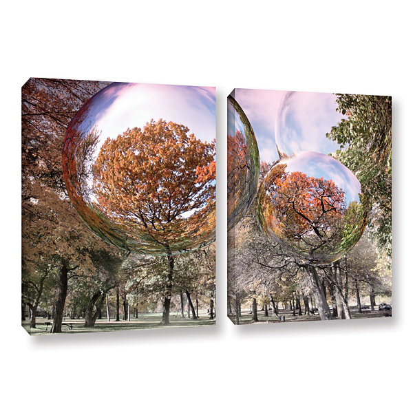 Brushstone Bubbles 2-pc. Gallery Wrapped Canvas Wall Art