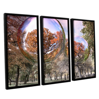 Brushstone Bubbles 3-pc. Floater Framed Canvas Wall Art