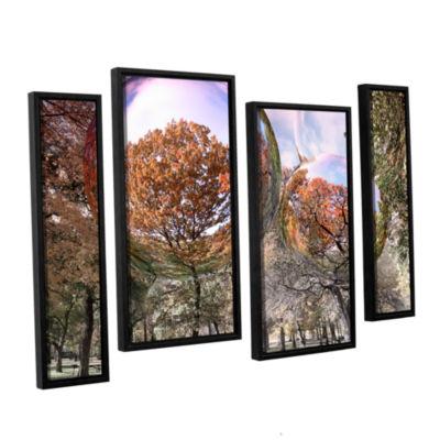 Brushstone Bubbles 4-pc. Floater Framed StaggeredCanvas Wall Art