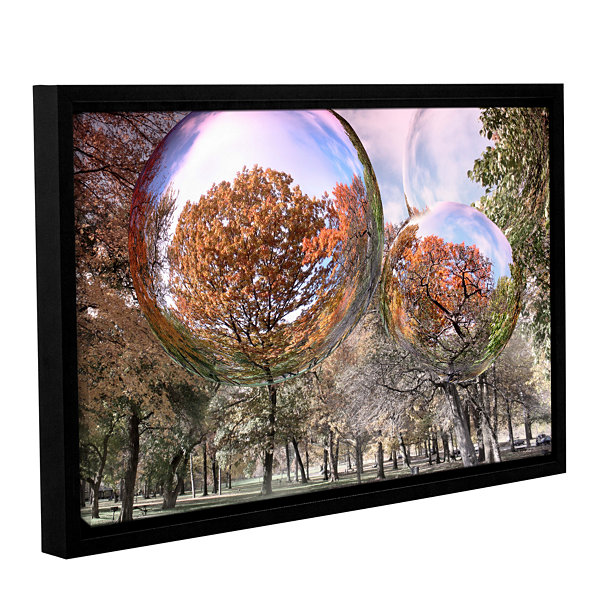 Brushstone Bubbles Gallery Wrapped Floater-FramedCanvas Wall Art
