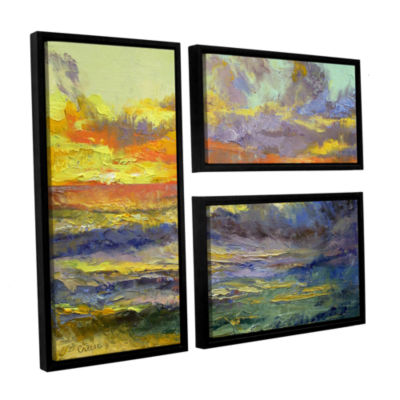 Brushstone California Dreaming 3-pc. Flag FloaterFramed Canvas Wall Art