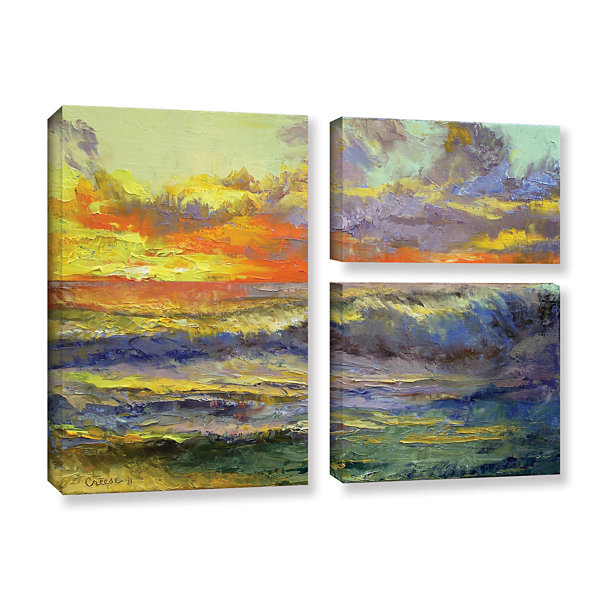 Brushstone California Dreaming 3-pc. Flag GalleryWrapped Canvas Wall Art