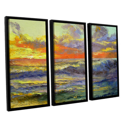Brushstone California Dreaming 3-pc. Floater Framed Canvas Wall Art