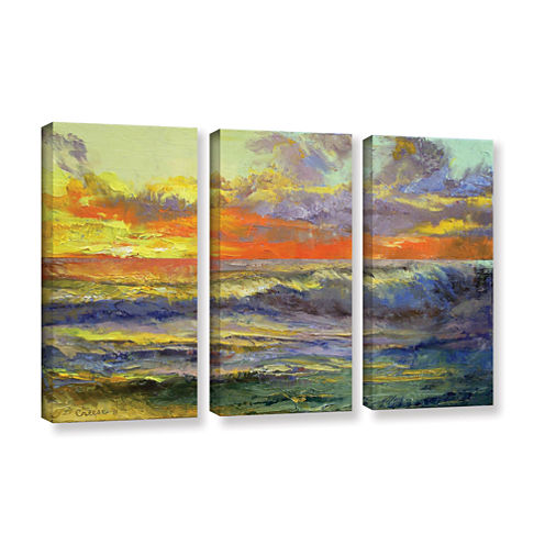 Brushstone California Dreaming 3-pc. Gallery Wrapped Canvas Wall Art