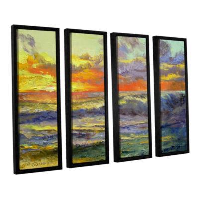 Brushstone California Dreaming 4-pc. Floater Framed Canvas Wall Art