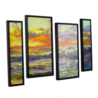 Brushstone California Dreaming 4-pc. Floater Framed Staggered Canvas Wall Art