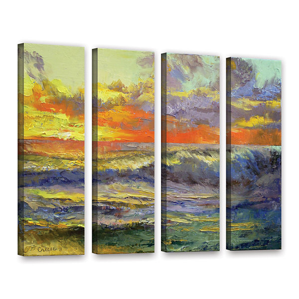 Brushstone California Dreaming 4-pc. Gallery Wrapped Canvas Wall Art