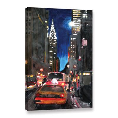 Brushstone New York Chrysler Building Street SceneGallery Wrapped Canvas Wall Art