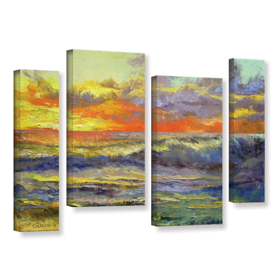 Brushstone California Dreaming 4-pc. Gallery Wrapped Staggered Canvas Wall Art