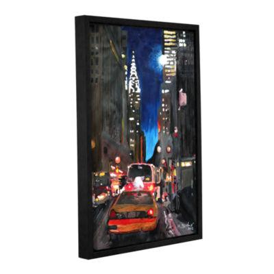 Brushstone New York Chrysler Building Street SceneGallery Wrapped Floater-Framed Canvas Wall Art