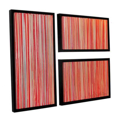 Brushstone Cayenne 3-pc. Flag Floater Framed Canvas Wall Art