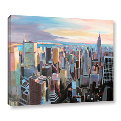 Brushstone New York City Skyline in Sunlight Gallery Wrapped Canvas Wall Art