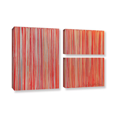 Brushstone Cayenne 3-pc. Flag Gallery Wrapped Canvas Wall Art