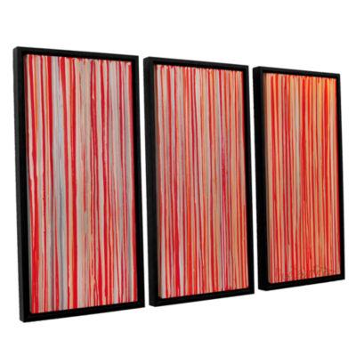 Brushstone Cayenne 3-pc. Floater Framed Canvas Wall Art